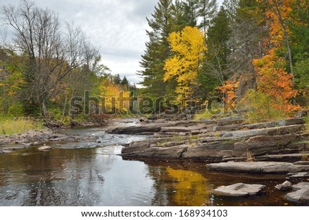 Autumn in Upper Michigan Canyon Falls scenic site