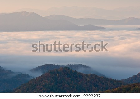 Autumn landscape Great Smoky Mountains National Park, North Carolina, USA