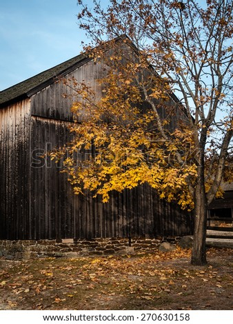 Autumn landscape in Batsto Village, Burlington County, NJ. - stock photo