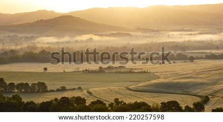 Autumn landscape in Tuscany  - stock photo