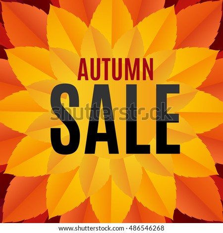 Autumn Leaves Sale Background Illustration