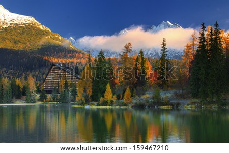 Autumn morning in High Tatras mountain