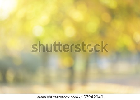 autumn out of focus background, good for backdrop - stock photo