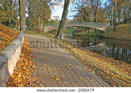 Autumn park in Latvia (Riga, Latvia, Europe)