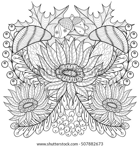 Fall Themed Adult Coloring Pages - Worksheet & Coloring Pages