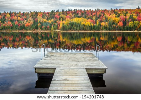 Autumn reflection - stock photo
