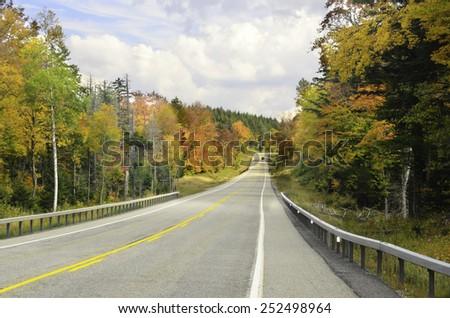 Autumn road trip - stock photo
