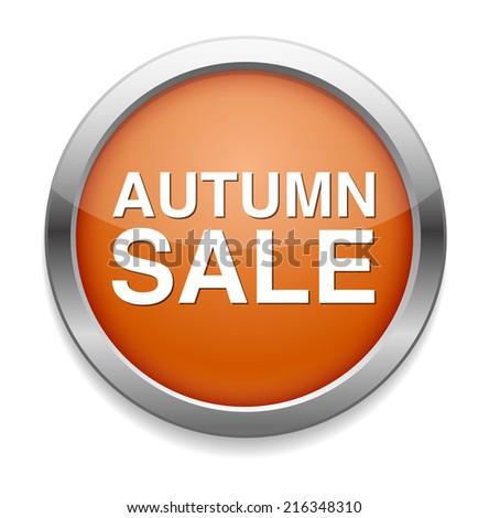 Autumn sale button - stock photo