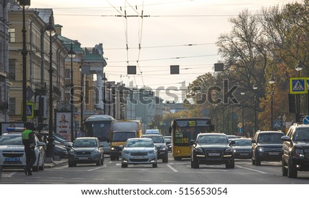 Autumn, St. Petersburg, the city, the architecture , street October 22, 2016