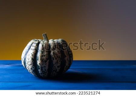 autumn symbols - small pumpkin - stock photo