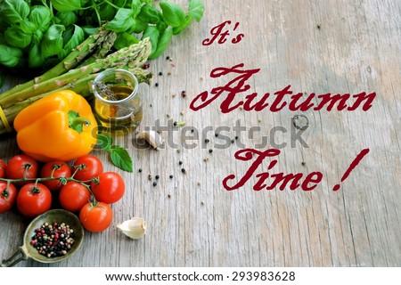 autumn time  - stock photo