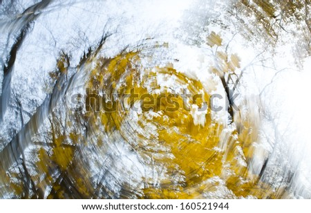 Autumn trees, abstract art - stock photo