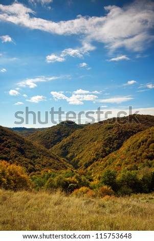 Autumn view of nature park Zumberak, Croatia - stock photo