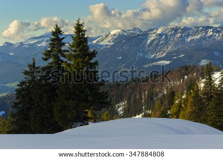 Autumn Zwieselalm in Alps mountains, Upper Austria