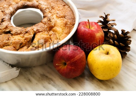 Autumnal apple pie