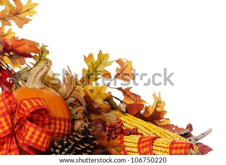 autumnal composition - stock photo