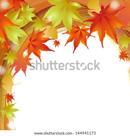 Autumnal leave Frame Illustration