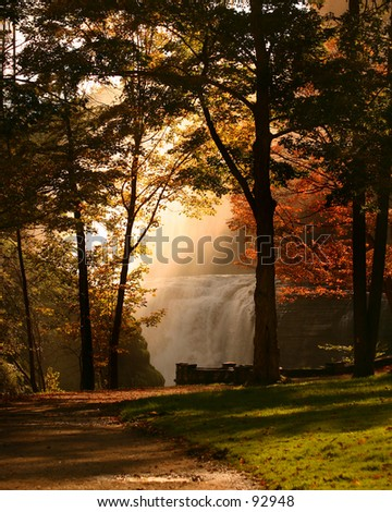 Autumnal Mist - stock photo