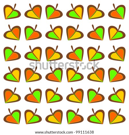 Autumnal pattern - stock photo