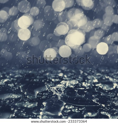 Autumnal rain, abstract environmental backgrounds for your design - stock photo