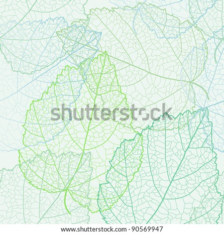 Autumnal seamless for card (raster version) - stock photo