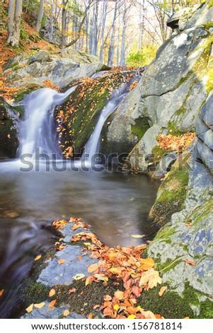 autumns paradise in mountain - stock photo