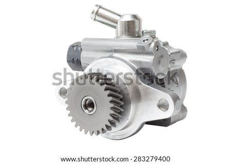 auxiliary water pump heating system of the second-row seat of the car. Heater assy / viscous with magnet clutch - stock photo