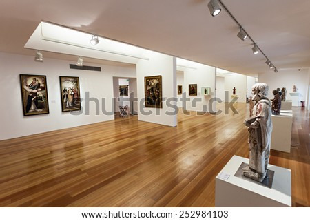 AVEIRO, PORTUGAL - JULY 02: City Museum interior, before known as the Convent of Jesus on July 02, 2014 in Aveiro, Portugal
