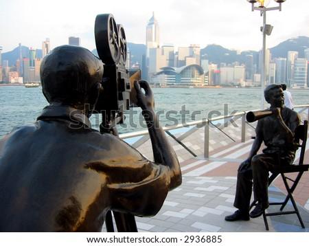 Avenue of Stars, Tsim Sha Tsui, Hong Kong - stock photo