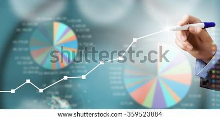 Average sales report - stock photo