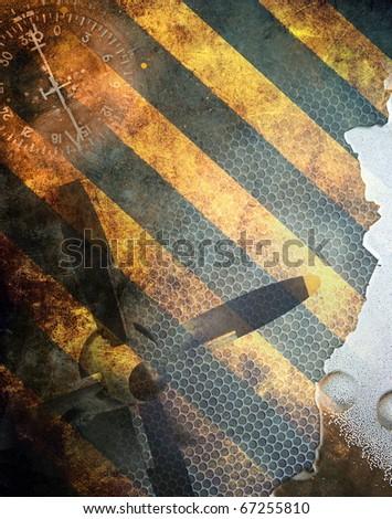 Aviation, grunge background - stock photo