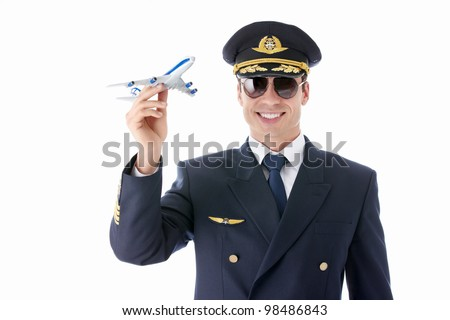 Aviator sunglasses in on a white background