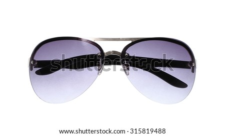 Aviator sunglasses isolated on white