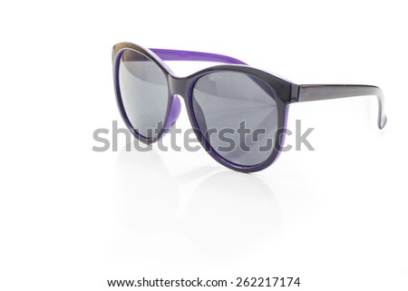 Aviator sunglasses isolated on white, clipping path included