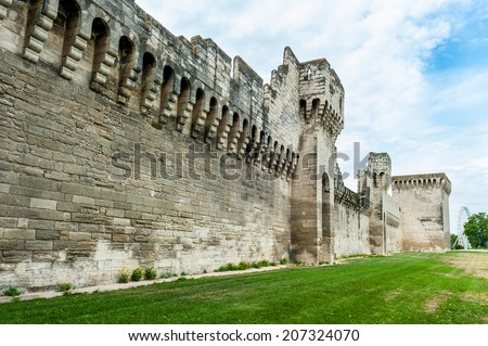 Avignon fortified wall - stock photo