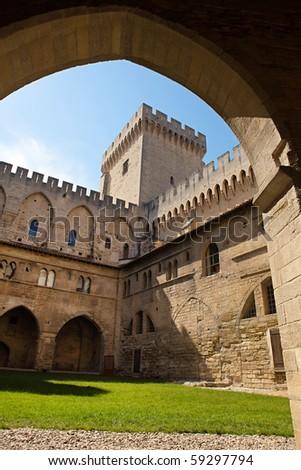 Avignon palace - stock photo