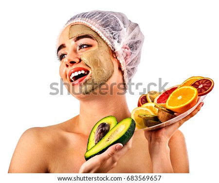 Facial fruit mask seems me
