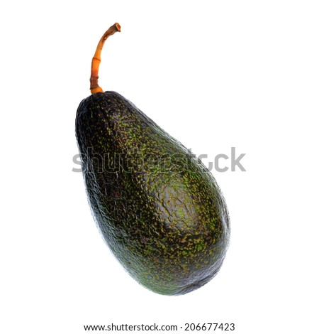 Avocado fruit isolated on a white background
