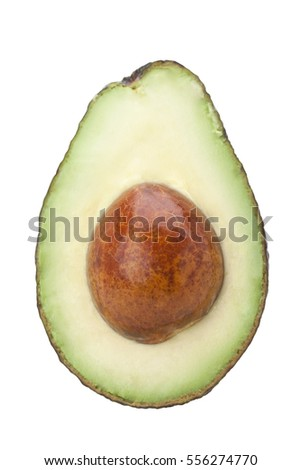 avocado fruit isolated on white background with clipping path