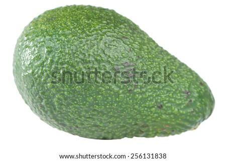 Avocado fruit on white - stock photo