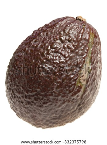 Avocado is isolated on a white background - stock photo