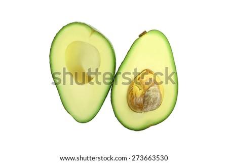 Avocado isolated - stock photo