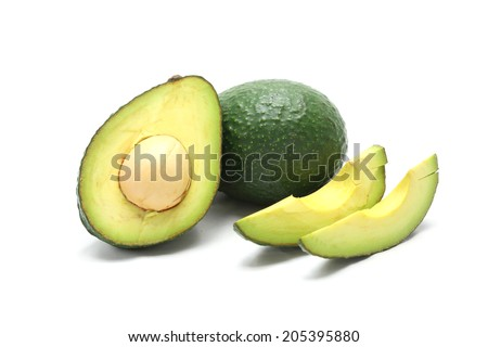 Avocado isolated on a white background - stock photo