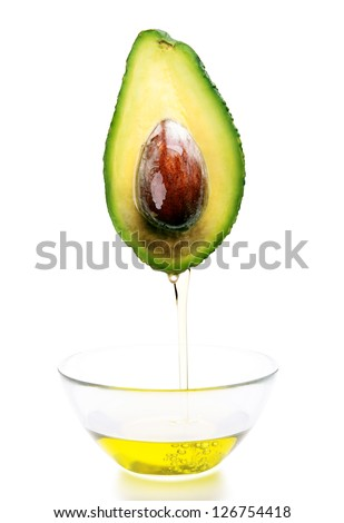 avocado oil, avocado - stock photo