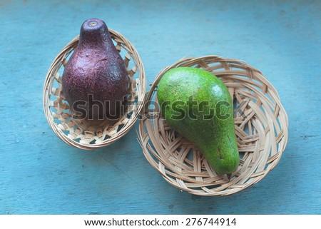 avocado on the table - stock photo
