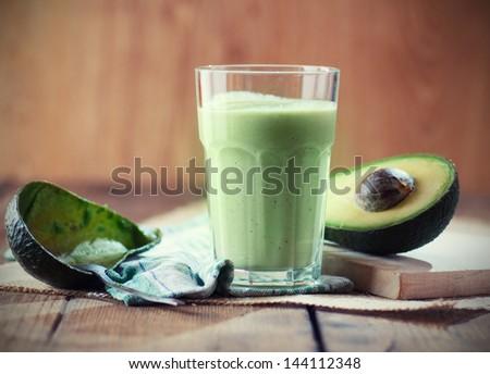 Avocado smoothie - stock photo