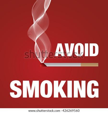 Avoid smoking sign illustration - stock photo