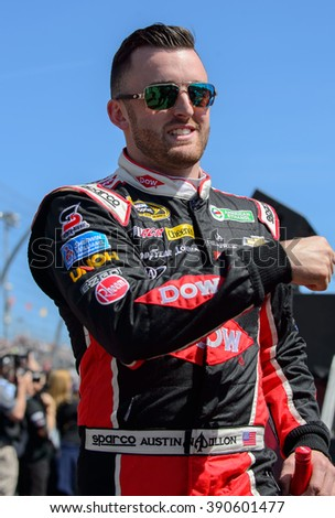 AVONDALE, AZ - MAR 13: Austin Dillon at the NASCAR Sprint Cup Good Sam 500 race at Phoenix International Raceway in Avondale, AZ on March 13, 2016