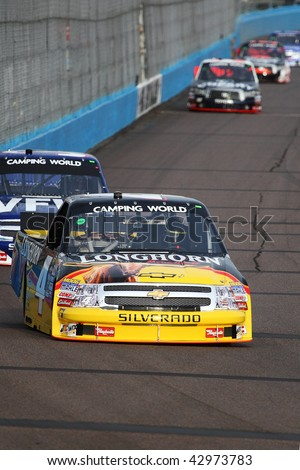 AVONDALE, AZ - NOV. 12: Kevin Harvick (4) takes laps in a practice session for the NASCAR Camping World Truck Series Lucas Oil 150 at Phoenix International Raceway on Nov. 12, 2009 in Avondale, AZ.
