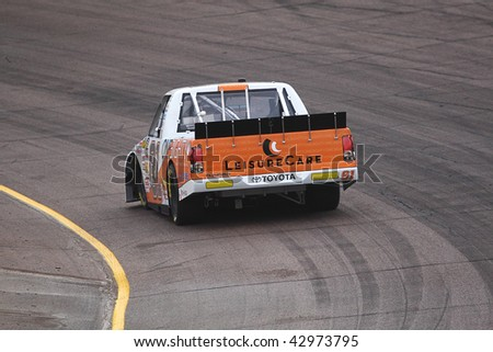 AVONDALE, AZ - NOV. 12: Tayler Malsam (81) takes laps in a practice session for the NASCAR Camping World Truck Series Lucas Oil 150 at Phoenix International Raceway on Nov. 12, 2009 in Avondale, AZ.